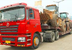 陕汽德龙-装载机运输